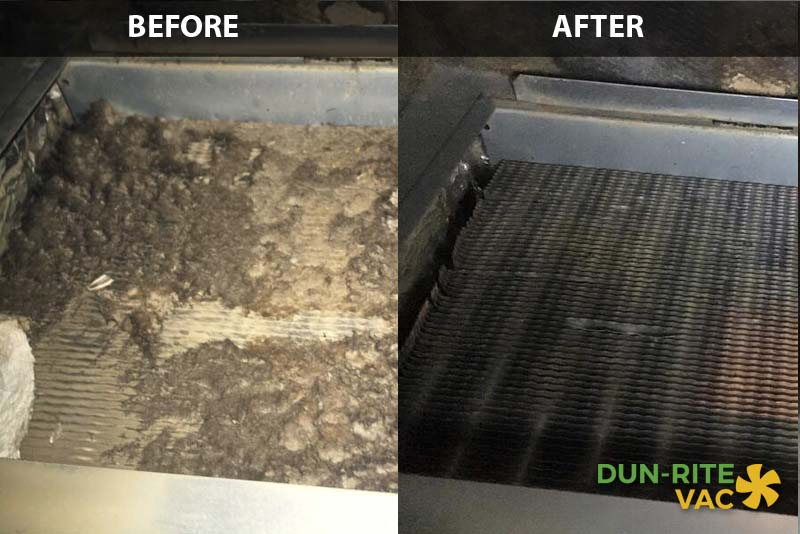 HVAC Cleaning Before & After