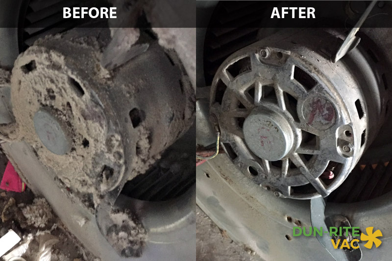 Furnace Cleaning Before & After